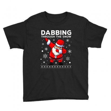 Dabbing Through The Snow Santa Dab Christmas Youth Tee Designed By Meganphoebe