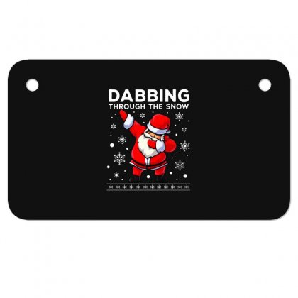 Dabbing Through The Snow Santa Dab Christmas Motorcycle License Plate Designed By Meganphoebe