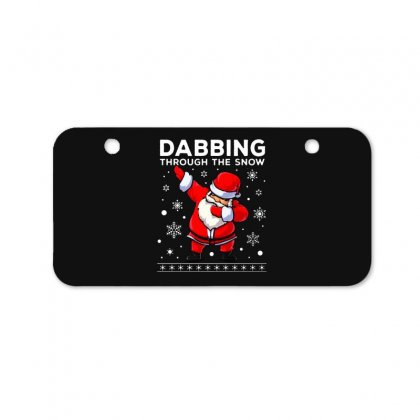 Dabbing Through The Snow Santa Dab Christmas Bicycle License Plate Designed By Meganphoebe