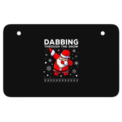 Dabbing Through The Snow Santa Dab Christmas Atv License Plate Designed By Meganphoebe