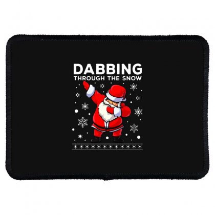 Dabbing Through The Snow Santa Dab Christmas Rectangle Patch Designed By Meganphoebe