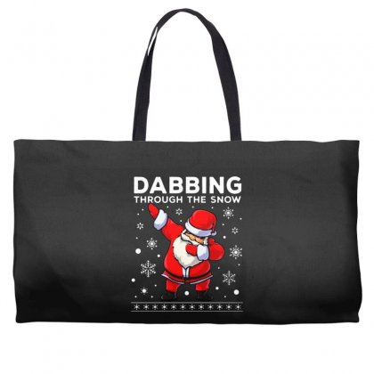 Dabbing Through The Snow Santa Dab Christmas Weekender Totes Designed By Meganphoebe
