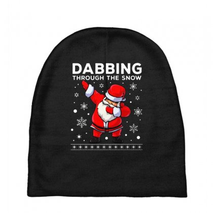Dabbing Through The Snow Santa Dab Christmas Baby Beanies Designed By Meganphoebe