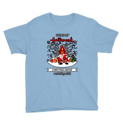 Dabbing Santa Claus This Is Hallmark Christmas Movie Watching Youth Tee Designed By Meganphoebe