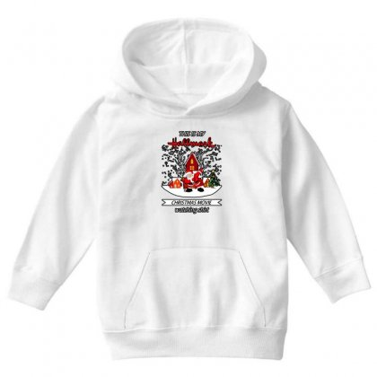 Dabbing Santa Claus This Is Hallmark Christmas Movie Watching Youth Hoodie Designed By Meganphoebe