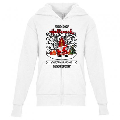 Dabbing Santa Claus This Is Hallmark Christmas Movie Watching Youth Zipper Hoodie Designed By Meganphoebe