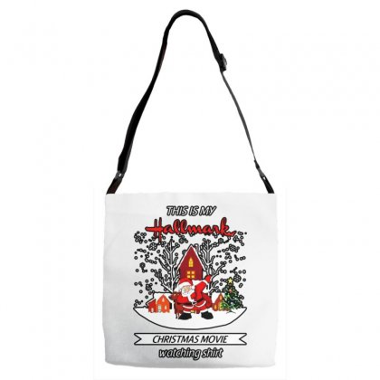 Dabbing Santa Claus This Is Hallmark Christmas Movie Watching Adjustable Strap Totes Designed By Meganphoebe