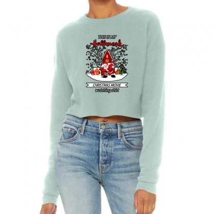 Dabbing Santa Claus This Is Hallmark Christmas Movie Watching Cropped Sweater Designed By Meganphoebe