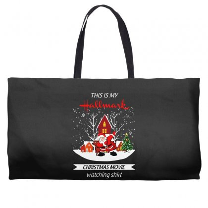 Dabbing Santa Claus This Is Hallmark Christmas Movie Watching Weekender Totes Designed By Meganphoebe