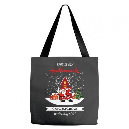 Dabbing Santa Claus This Is Hallmark Christmas Movie Watching Tote Bags Designed By Meganphoebe