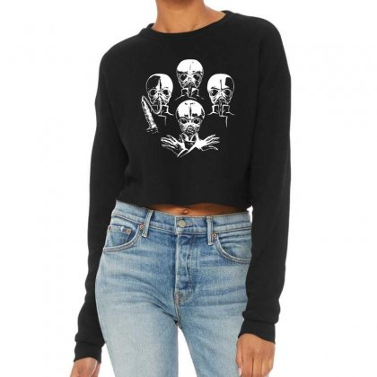 Cantina Baand Aliens Parody Cropped Sweater Designed By Meganphoebe