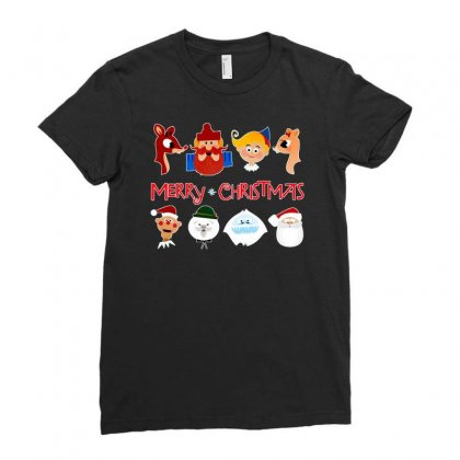 Rudolph The Red Nosed Reindeer Ladies Fitted T-shirt Designed By Meganphoebe