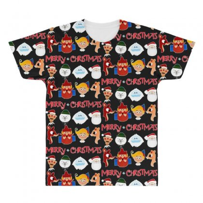 Rudolph The Red Nosed Reindeer All Over Men's T-shirt Designed By Meganphoebe