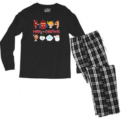 Rudolph The Red Nosed Reindeer Men's Long Sleeve Pajama Set Designed By Meganphoebe