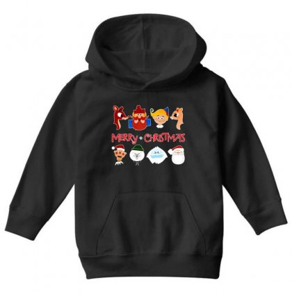 Rudolph The Red Nosed Reindeer Youth Hoodie Designed By Meganphoebe