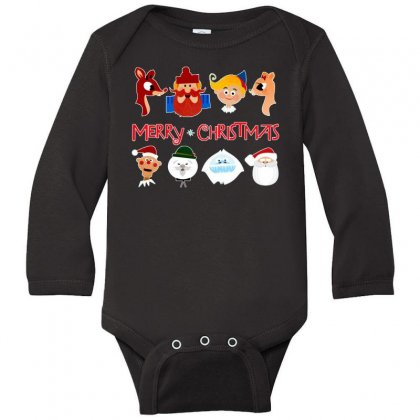 Rudolph The Red Nosed Reindeer Long Sleeve Baby Bodysuit Designed By Meganphoebe