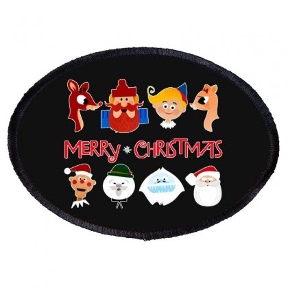 Rudolph The Red Nosed Reindeer Oval Patch Designed By Meganphoebe