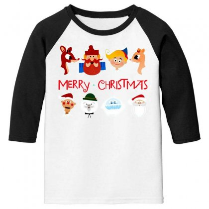 Rudolph The Red Nosed Reindeer Youth 3/4 Sleeve Designed By Meganphoebe