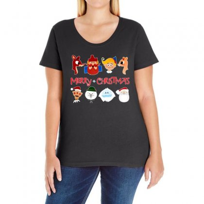 Rudolph The Red Nosed Reindeer Ladies Curvy T-shirt Designed By Meganphoebe