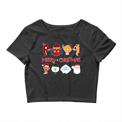 Rudolph The Red Nosed Reindeer Crop Top Designed By Meganphoebe