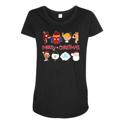Rudolph The Red Nosed Reindeer Maternity Scoop Neck T-shirt Designed By Meganphoebe