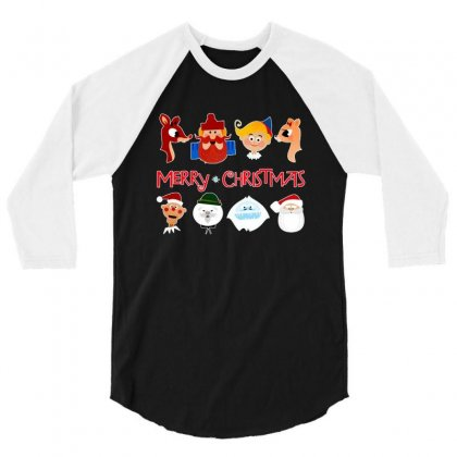 Rudolph The Red Nosed Reindeer 3/4 Sleeve Shirt Designed By Meganphoebe