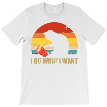 I Do What I Want Black Cat Animals Cat T-shirt Designed By Daraart
