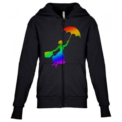 Proud Mary Youth Zipper Hoodie Designed By Meganphoebe