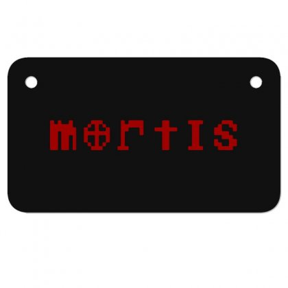 Mortis Motorcycle License Plate Designed By Meganphoebe