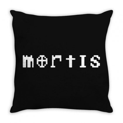 Mortis In White Throw Pillow Designed By Meganphoebe