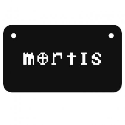 Mortis In White Motorcycle License Plate Designed By Meganphoebe