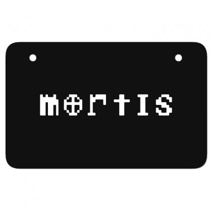 Mortis In White Atv License Plate Designed By Meganphoebe