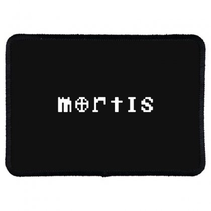 Mortis In White Rectangle Patch Designed By Meganphoebe