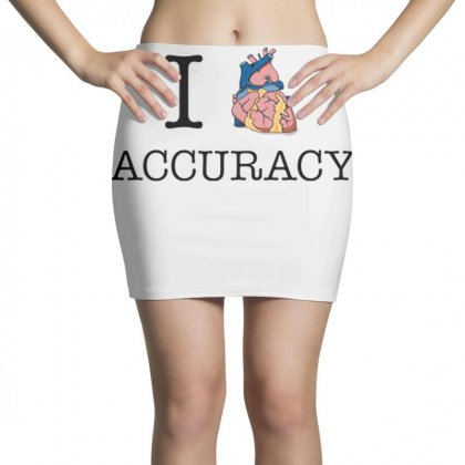 I Heart Accuracy Mini Skirts Designed By Daraart