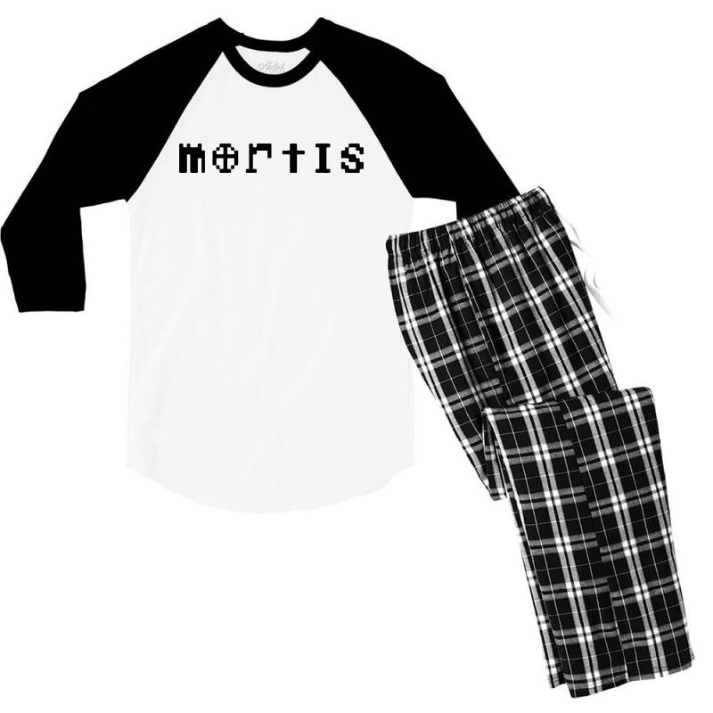 Mortis   In Black Men's 3/4 Sleeve Pajama Set | Artistshot