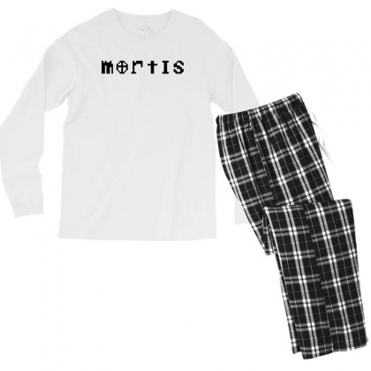Mortis   In Black Men's Long Sleeve Pajama Set Designed By Meganphoebe