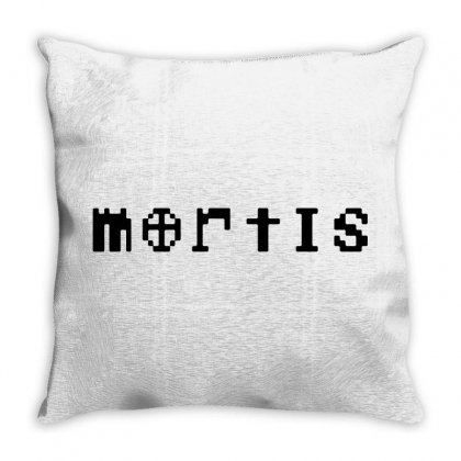 Mortis   In Black Throw Pillow Designed By Meganphoebe