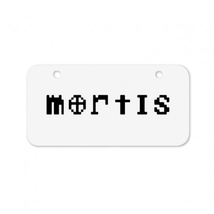 Mortis   In Black Bicycle License Plate Designed By Meganphoebe