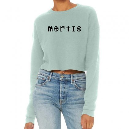Mortis   In Black Cropped Sweater Designed By Meganphoebe