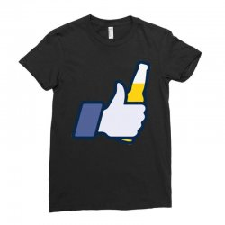 i like beer Ladies Fitted T-Shirt | Artistshot