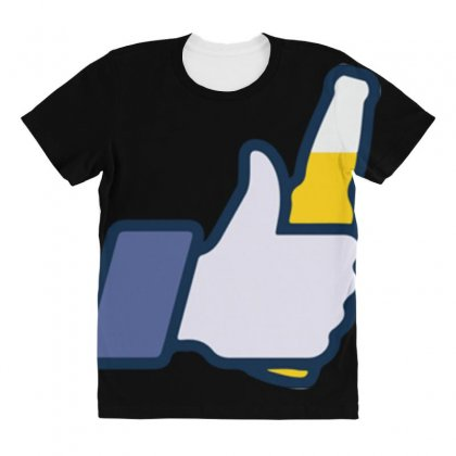 I Like Beer All Over Women's T-shirt Designed By Daraart