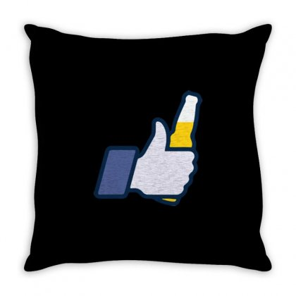 I Like Beer Throw Pillow Designed By Daraart