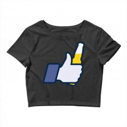 i like beer Crop Top | Artistshot