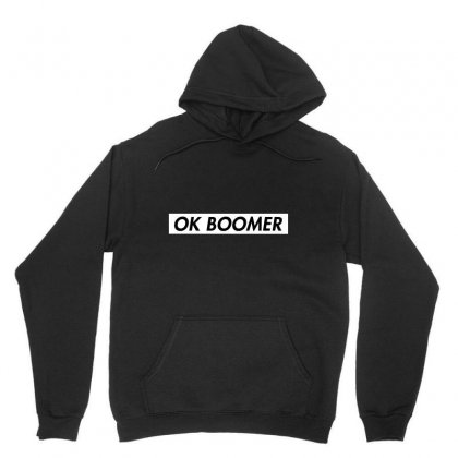 Ok Boomer   White For Fun Unisex Hoodie Designed By Meganphoebe