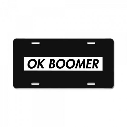 Ok Boomer   White For Fun License Plate Designed By Meganphoebe