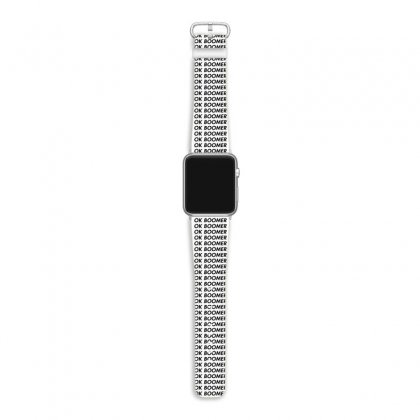 Ok Boomer   White For Fun Apple Watch Band Designed By Meganphoebe