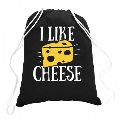 I Like Cheese Drawstring Bags Designed By Daraart