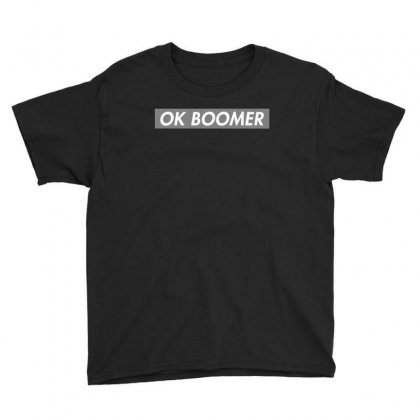 Ok Boomer   Dark For Fun Youth Tee Designed By Meganphoebe