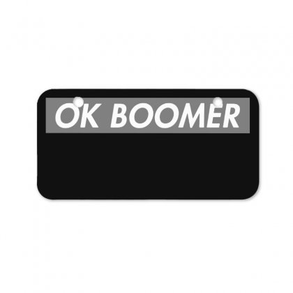 Ok Boomer   Dark For Fun Bicycle License Plate Designed By Meganphoebe