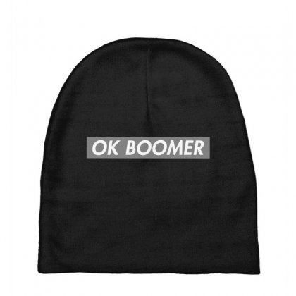 Ok Boomer   Dark For Fun Baby Beanies Designed By Meganphoebe